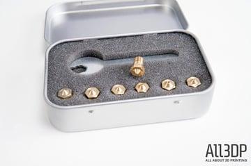 buse inox M7 pour extrudeur MK10 0.2 0.3 0.4 0.5 0.6 0.8mm 3d print nozzle