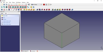 Image of FreeCAD Tutorial for 3D Printing: 1.6 Moving Objects & The Different View Windows