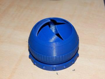An iris box printed in AmazonBasics Blue PETG.
