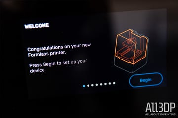 Image of Formlabs Form 3 Test: Aufbau