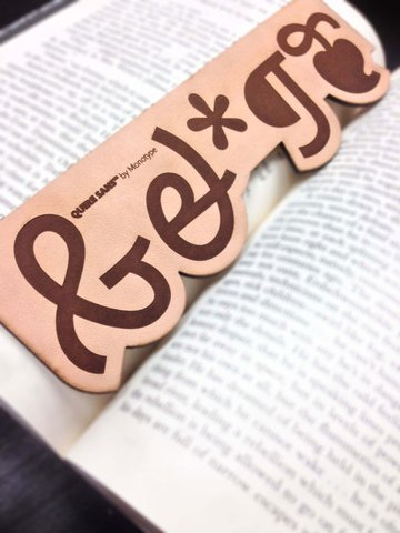 Laser etch a custom bookmark, using any crazy font you want!