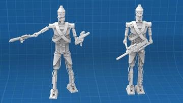 Image of Star Wars 3D Models to 3D Print: IG-11 Droid Bounty Hunter