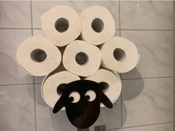 Image de Objets 3D utiles à imprimer en 3D: Mouton porte-papier toilette