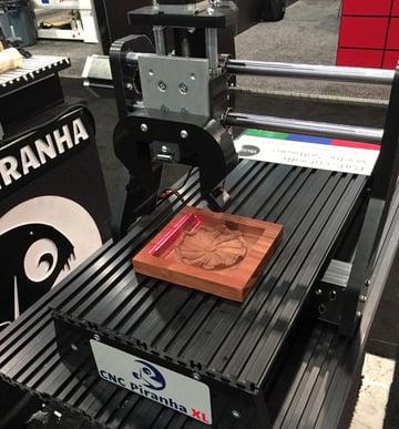 The assembled CNC Piranha XL.