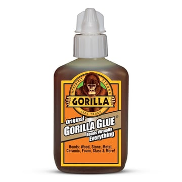 Gorilla polyurethane glue will adhere to almost anything.