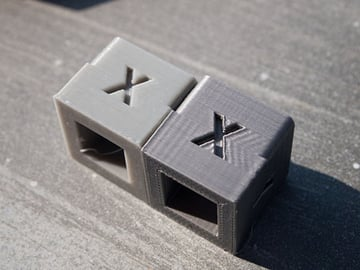 Ringing artifacts (right) caused by high printing speeds.