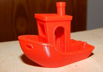 Our 3DBenchy in MH Build Red PLA