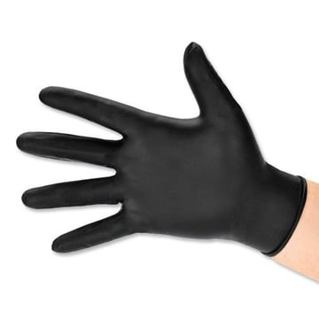 Nitrile gloves protect the surface you want to paint and your hands.