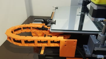 A drag chain installed on the Y-axis of the CR-10 S5.