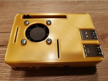Image of Custom Raspberry Pi Case to 3D Print: Raspberry Pi 4 Snap Fit Case With Fan