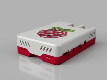 Image of Custom Raspberry Pi Case to 3D Print: Snap Fit Raspberry Pi 4 Case & Stands