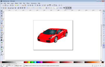 Preparing a design in Inkscape.