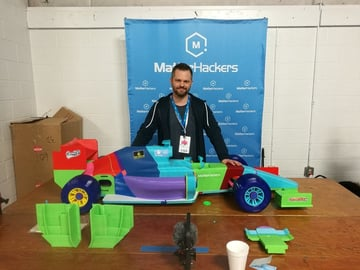 The largest 3D printed F1 racecar.
