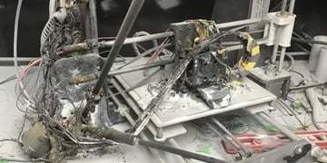 A 3D printer that got slightly too hot. (The print might have failed, too.)