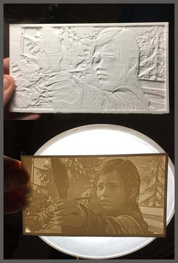 A lithopane only works with a light source behind it.