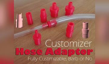 Image de Objets 3D utiles à imprimer en 3D: Raccord tuyau personnalisable