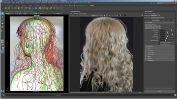 Complex ray tracing on hair.
