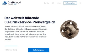 Image of Online-3D-Druck-Service-Dienstleister: Craftcloud