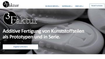 Image of Online-3D-Druck-Service-Dienstleister: 3Faktur
