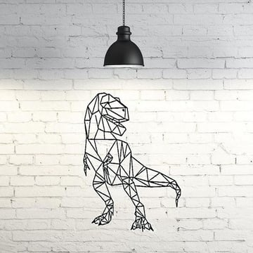 A low-poly T-Rex wall sculpture.