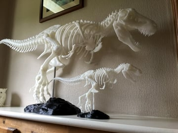 The perfect mantelpiece to scare away unwanted guests.
