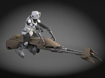 Star Wars Scout Trooper with Bike rendered in 3DS Max.