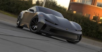 Sports Coupe modeled in SolidWorks.