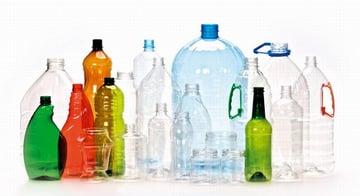 Bottles made of PET.
