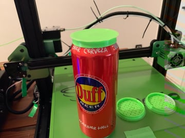 A flexible beer cap printed in TPU.