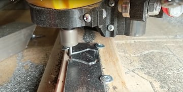 The MPCNC milling steel.
