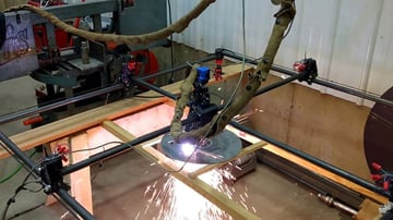 An MPCNC plasma cutting