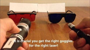 Choosing laser goggles.
