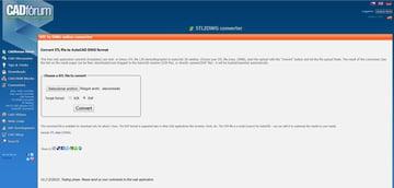 CAD Forum's online converter.