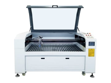 280-W metal and non-metal laser cutter with CO2 laser tube.