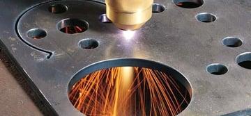 Fiber laser cutting.