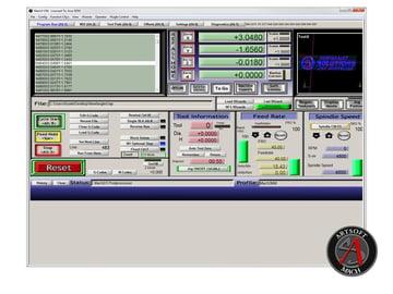 Mach3 CNC controller software.