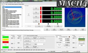 Mach4 CNC controller.
