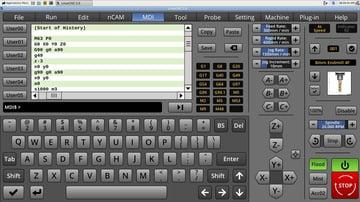 LinuxCNC user interface.