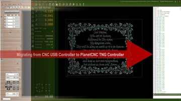Migrating to planet CNC TNG controller from USB CNC controller.
