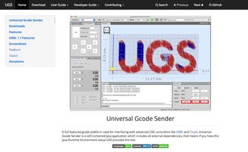 UGS – Universal G-code Sender.