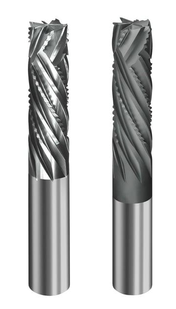 Compression router bits for composite materials.