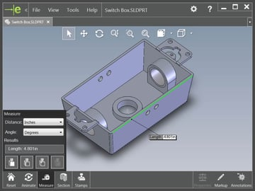 eDrawings is SolidWorks' own free viewer.