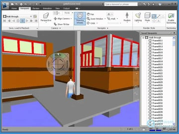 The Naviswork Freedom viewer gives you a lot of options for perspective on your design.
