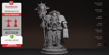 Extremely detailed Warhammer figurine.