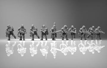 You can print an entire feudal guard squad for less than $10!