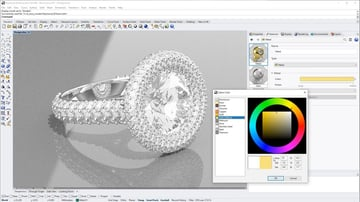 Rhino software allows you to create extremely detailed models such as this model of a wedding ring.