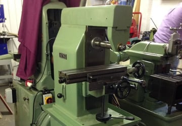 A horizontal milling machine.