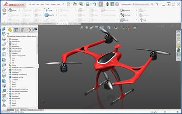 Drone designed in SolidWorks.