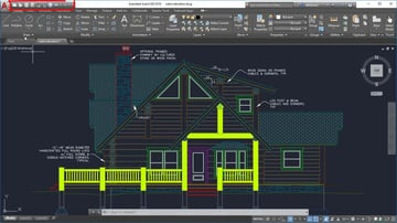 The AutoCAD 2019 user interface.
