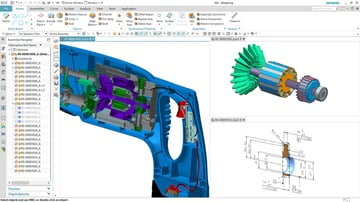 The NX user interface is similar to that of many CAD software tools.